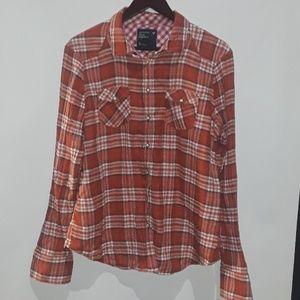 American Eagle Flannel plaid shirt